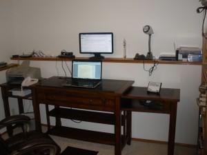 Standing set-up
